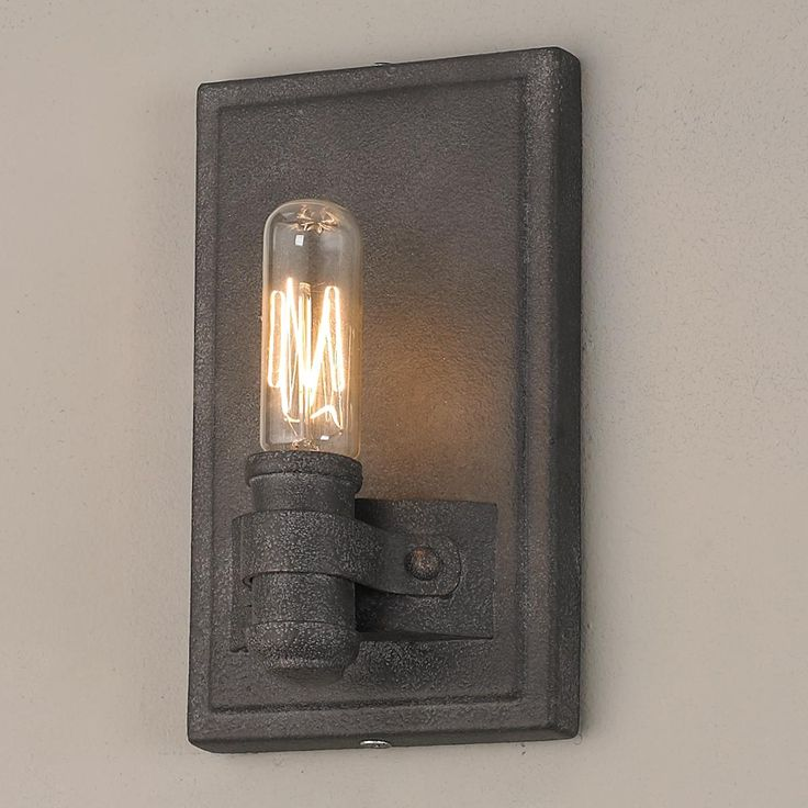 interesting bathroom light fixtures%0A Early Electric Edison Bulb Sconce