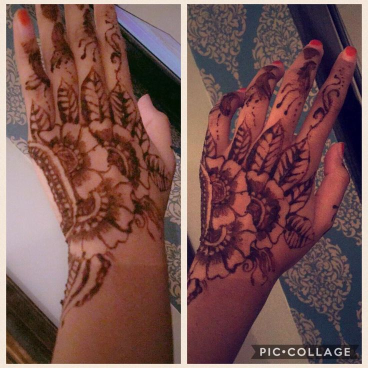 Simple henna design done by me #simple #birthday #traditional