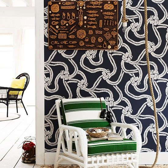 Wild nautical rope knot wall paper.