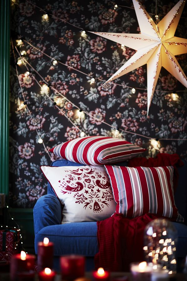 Hanging festive lights is an easy way to turn your home into a winter wonderland. Find IKEA inspiration in Your 2016 Holiday Celebrating Guide!