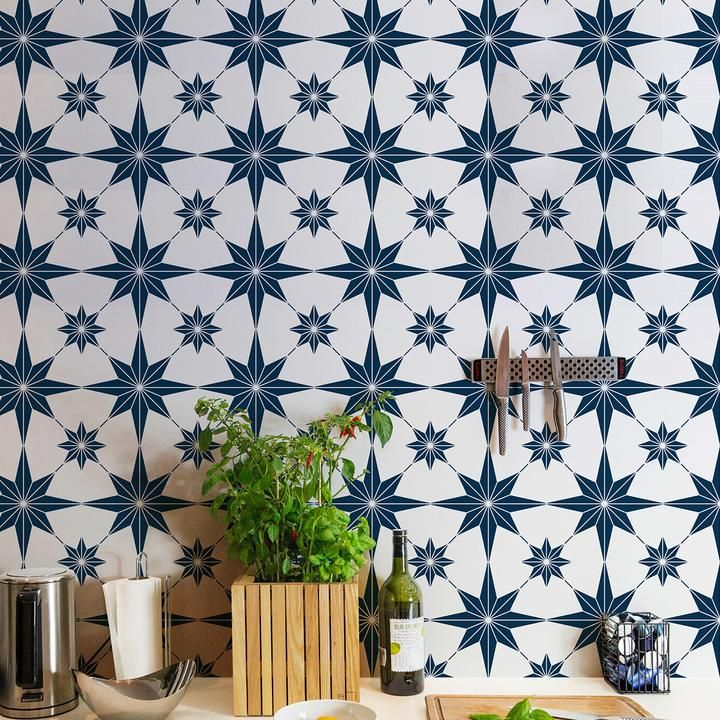 Stencil Designs And Pretty Pattern For A Colorful Room Makeover That S Cheaper Than Wallpaper Wall Stenci Stencils Wall Stencil Painting On Walls Tile Stencil