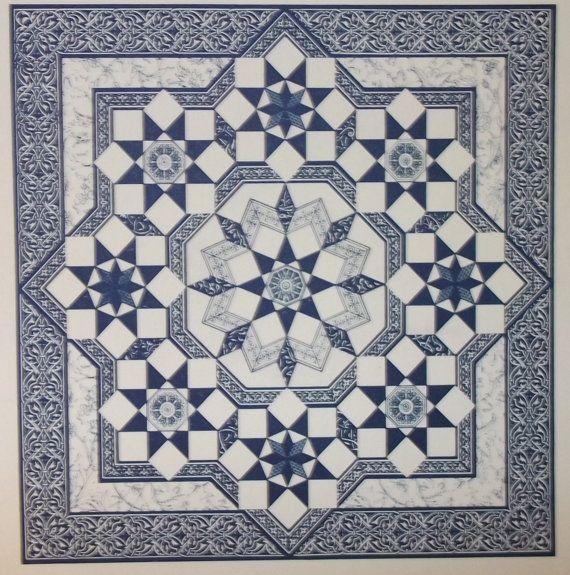 Perzisch-Star quilt patroon van Mary K Ryan Instructies en volledige grootte sjablonen (op papier) Gemiddelde voorwaarde. Oorsprong onbekend, dus weet niet over huisdieren, roken, enz.