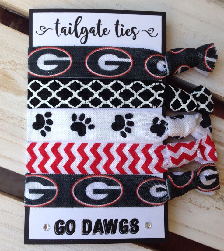 UGA Game Day Hair Ties