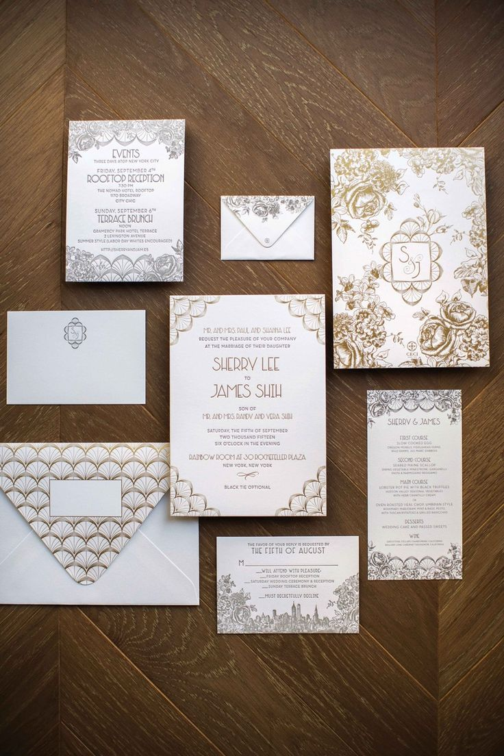 paper style wedding invitations%0A Art DecoInspired Invites   Photo  Christian Oth Studio  View More  http