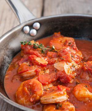 Steffen Henssler: Garnelen in scharfer Tomaten-Knoblauchsauce