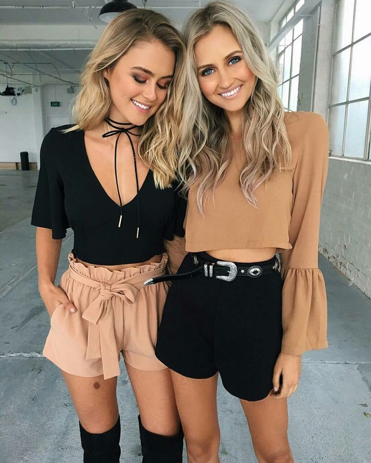 Tiger Mist, street style, casual outfit, spring chic, summer chic, black suede choker, black top, brown shorts, brown top, black shorts