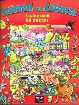Animali Della Fattoria + 60 Sticker Ragazzi Aa Vv Ape Junior 2012
