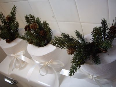 Bathroom Decorating Ideas Christmas 65 best holiday bathroom decorations images on pinterest