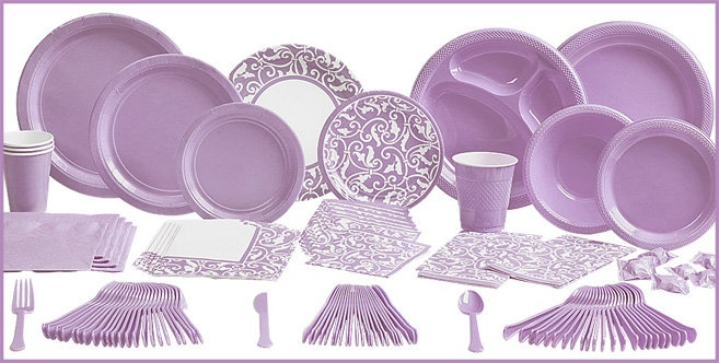 Lavender Tableware - Lavender Party Supplies - Party City