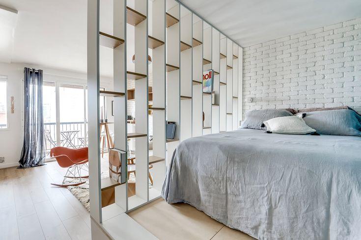 спальня в дизайне квартиры-студии 25 кв. м.