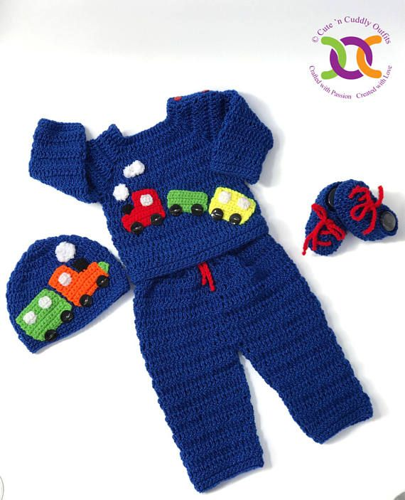 Cutencuddlyoutfits is proud to present baby boys Choo Choo Set , that will leave…