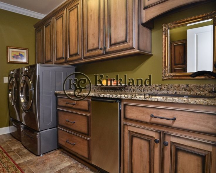 cabinet stains and finishes | Laundry Room Cabinets_Maple Wood with Coffee Stain and Black Glazing ...