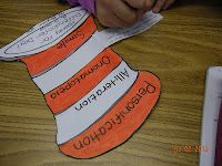 Dr. Seuss hat foldable with reading terms