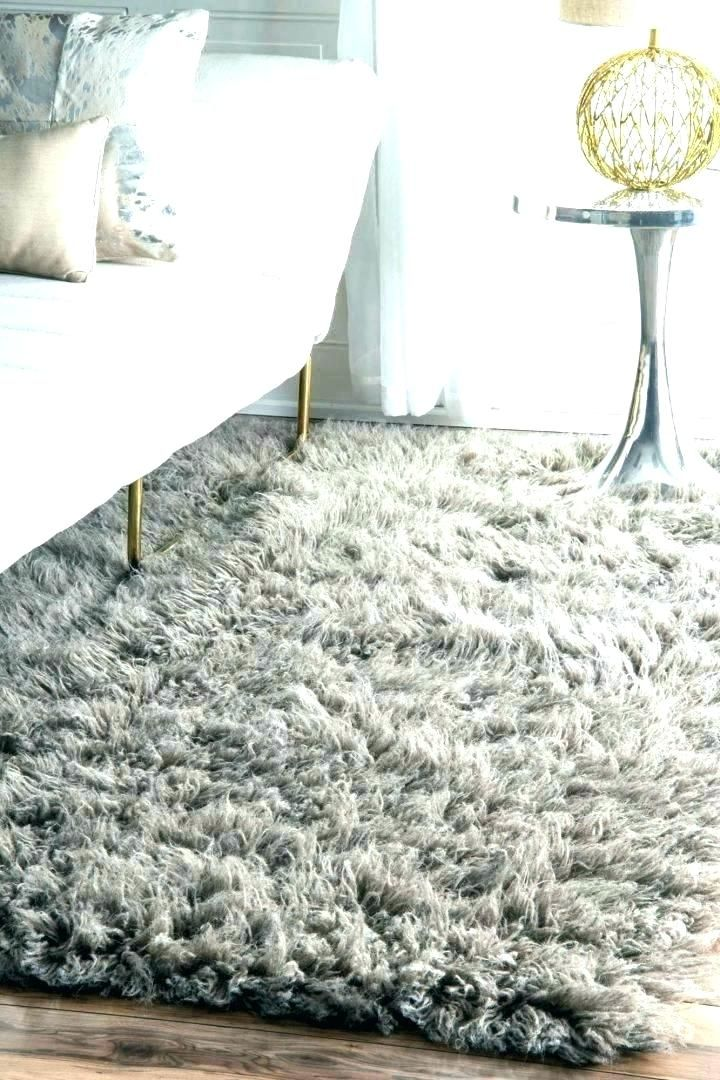 White Fluffy Rug For Rugs