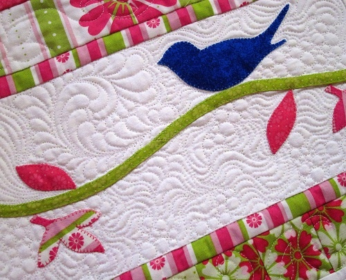 58 best Quilting around appliqué images on Pinterest | Free motion ... : machine quilting around applique - Adamdwight.com