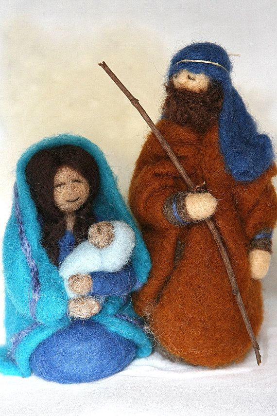 a felted Christmas nativity