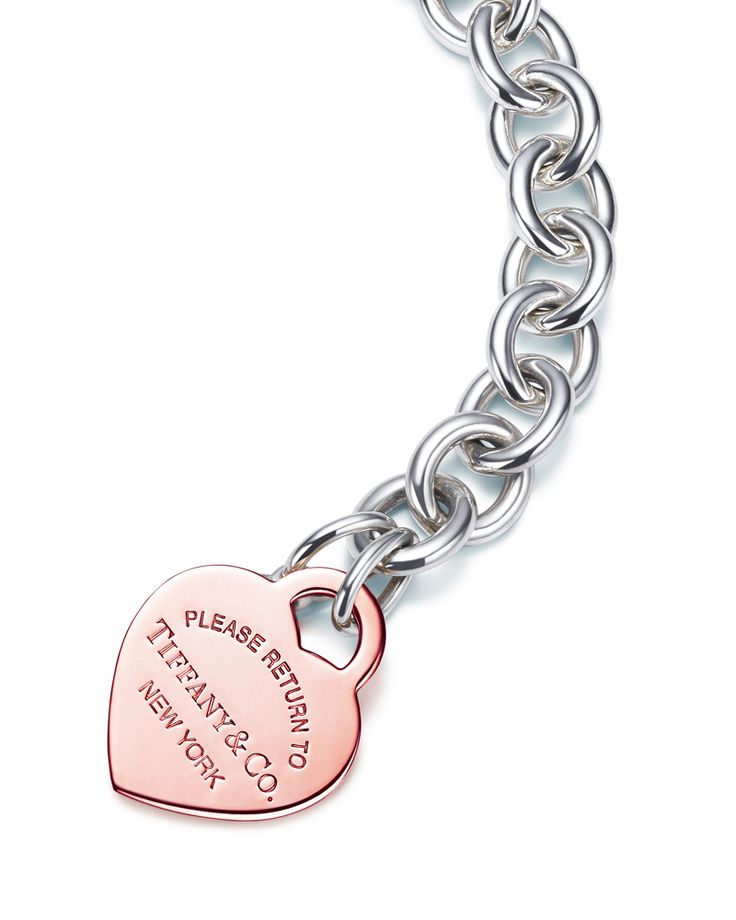 From New York with love. Return to Tiffany® heart tag bracelet in sterling silver and RUBEDO® metal.