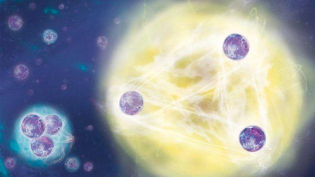 DivaDeaWeag / Una rara 'teoria trii' di un fisico sovietico ha confermato 40 anni dopo - Più di 40 anni dopo un fisico sovietico propose una teoria bizzarra circa trii di particelle che possono essere ordinati su un ''Insieme Infinito'',gli scienziati hanno pubblicato prove convincenti che stato della materia esiste.Nel 1970,Vitali Efimov stava cambiando le equazioni della meccanica quantistica nel tentativo di calcolare il comportamento del sistemi di tre particelle,come protoni e neutroni