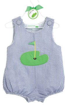 Country Club Baby Boy Golf Romper - if I have a baby boy, he will wear this to the Tucker tournament next year!