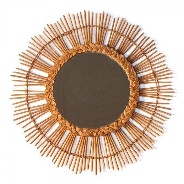"""Grand miroir en rotin """"Pampelonne"""" #rienacirer #meublevintage #miroir"""