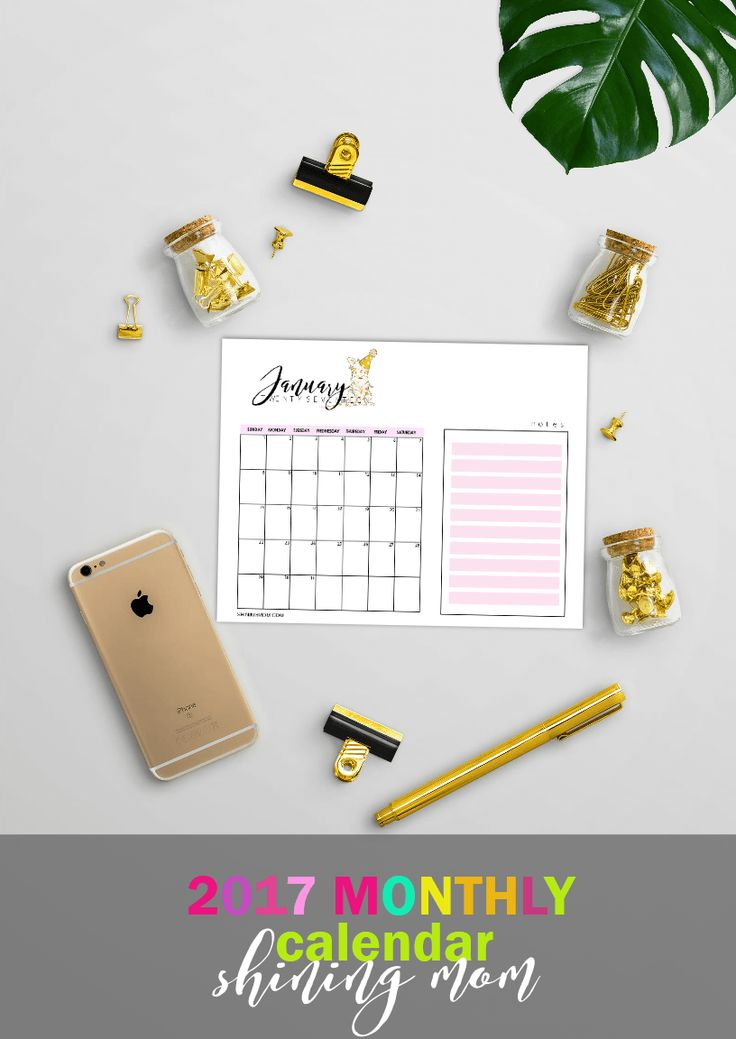 127 best Free Printable 2017 Calendars by Shining Mom Blog images - printable 2017 calendar