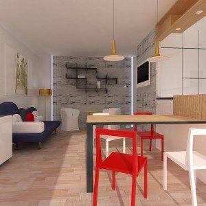 Arredare il soggiorno-zona pranzo con cucina a vista | idee ...