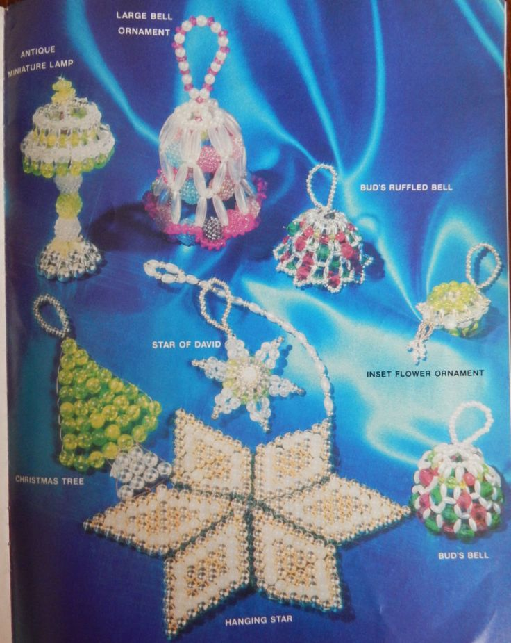 Beading Instructions for Christmas Tree Ornaments/Beaded Holiday ll 29 Tree Trimmers/ Tree Ornaments by RedWickerBasket on Etsy