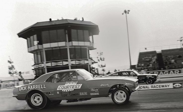 DICK HARREL's COURTESY CHEVROLET CAMARO Funny Car at OCIR