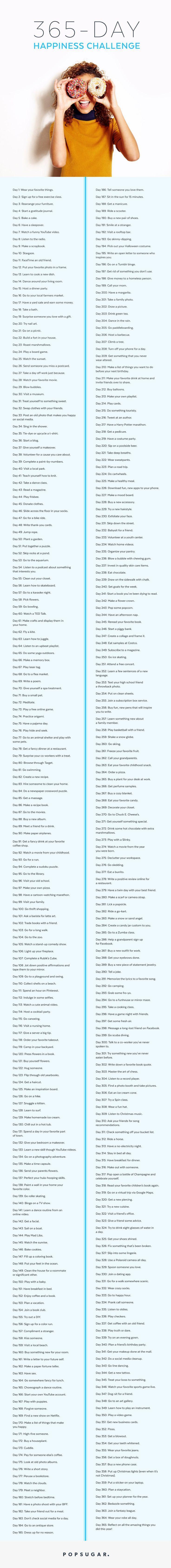 Die 365-Tage-Glücks-Herausforderung, die garantiert Ihr Leben verändert – #365…
