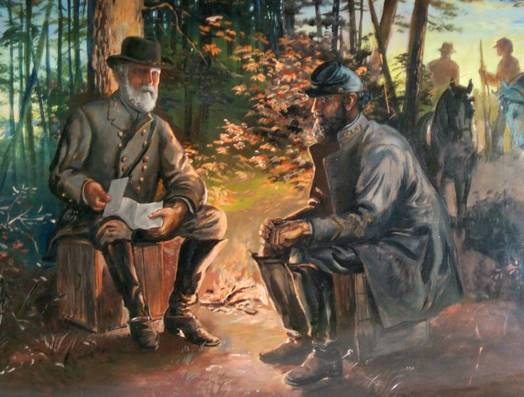 The Last Meeting between Generals Robert E. Lee and Thomas ...