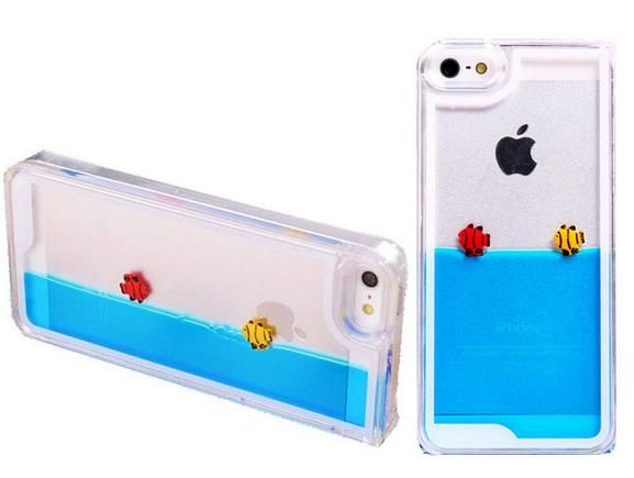 Funda para iPhone con agua y pececitos