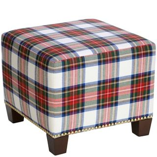 Shop for Skyline Furniture Square Nail Button Ottoman in Stewart Dress Multi. Get free shipping at Overstock.com - Your Online Furniture Outlet Store! Get 5% in rewards with Club O!