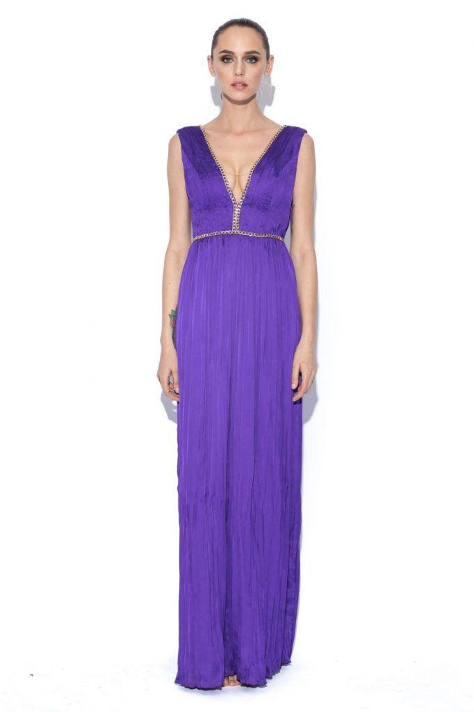rochie lunga mov - rochii de seara lungi la reducere