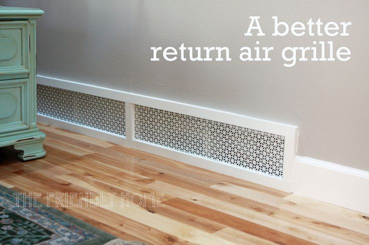 Make Your Own Return Air Grille With Sheet Metal
