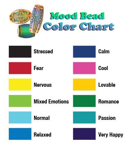 what mood are you in mood bead color chart summer color pinterest