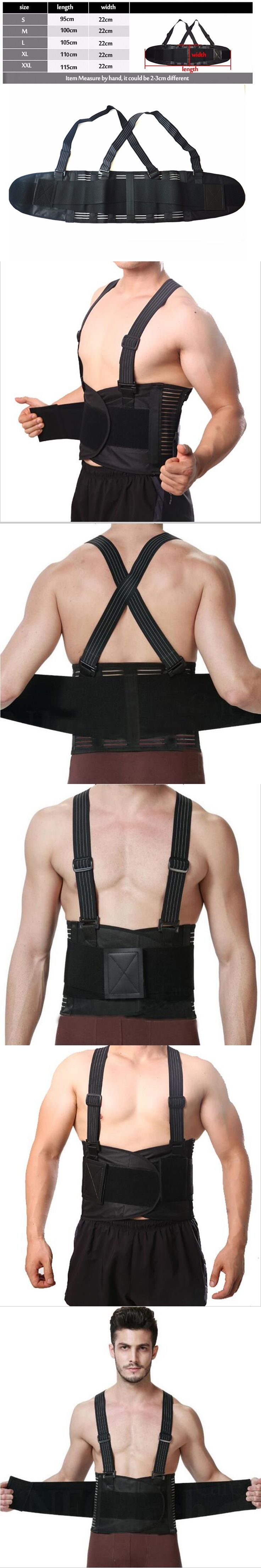 Breathable Posture Corrector Pain Belt Back Corset for Men Back Support Brace Shoulder Straps Lumbar Support Belt Y001