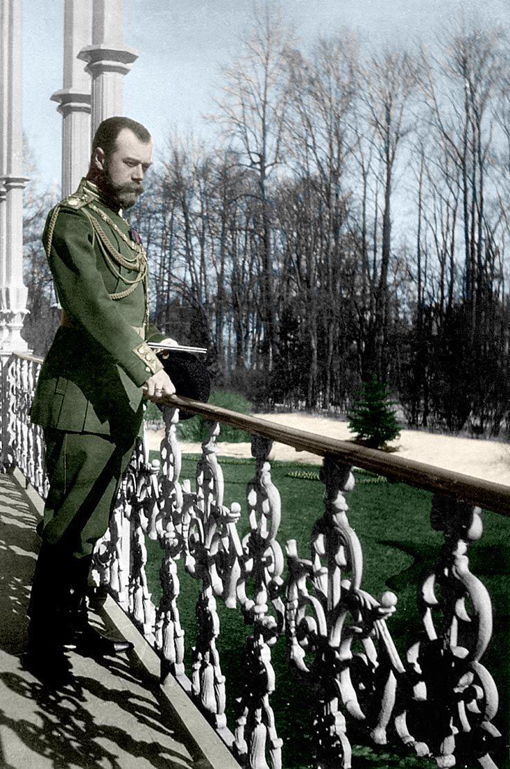 Tsar Nicholas Ii Looking Out Over Balcony To Garden With Images