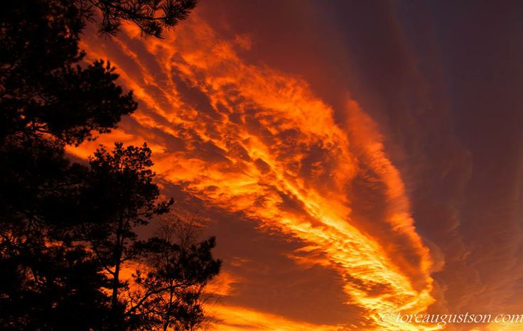 The sky in fire