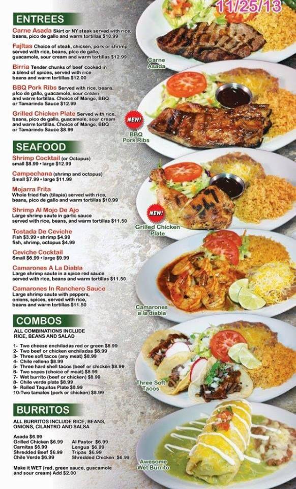 25 best images about mexican menus on pinterest behance for X cuisine miri menu