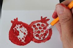 DIY Rosh Hashanah cards - or use bubble wrap to print and cut out