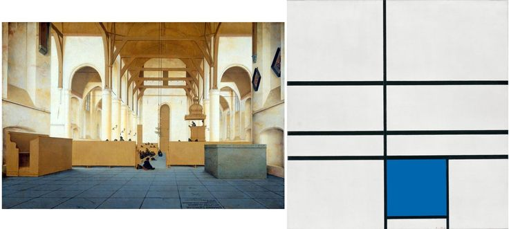 este Saenredam y este Mondrian son lo mismo