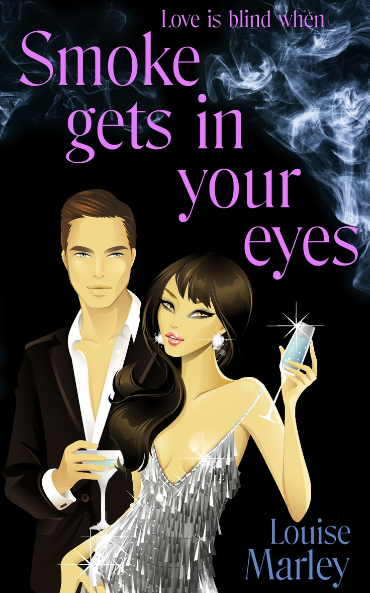 Smoke Gets In Your Eyes by Louise Marley  After marrying the handsome and wealthy Hugh Kirkwood, all Caitlin wants to do is enjoy her happy ever after. But on the day she learns she is finally pregnant, she catches him in bed with another woman.  Before Caitlin can even think of divorce, Hugh and his girlfriend are killed in a mysterious fire. But Caitlin's problems are only just beginning.