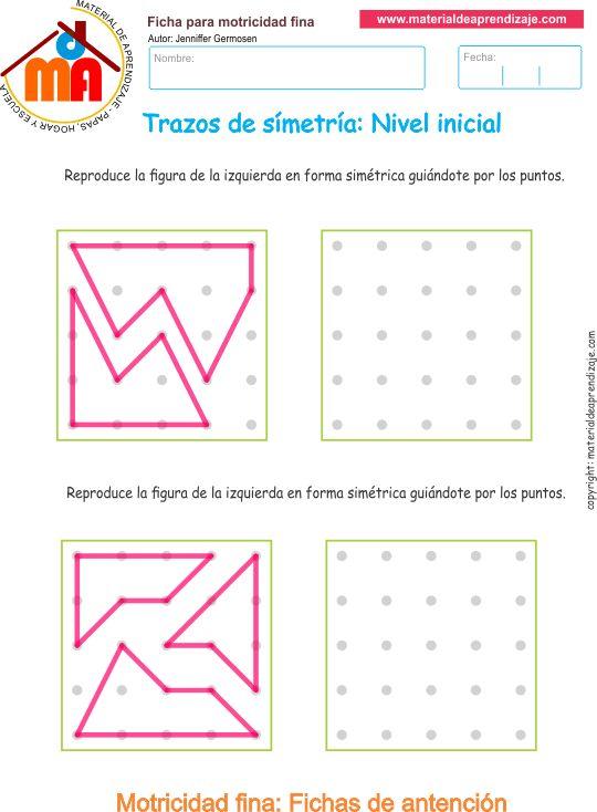 Cuadernillos: Trazos de simetría - motricidad fina - Material de Aprendizaje