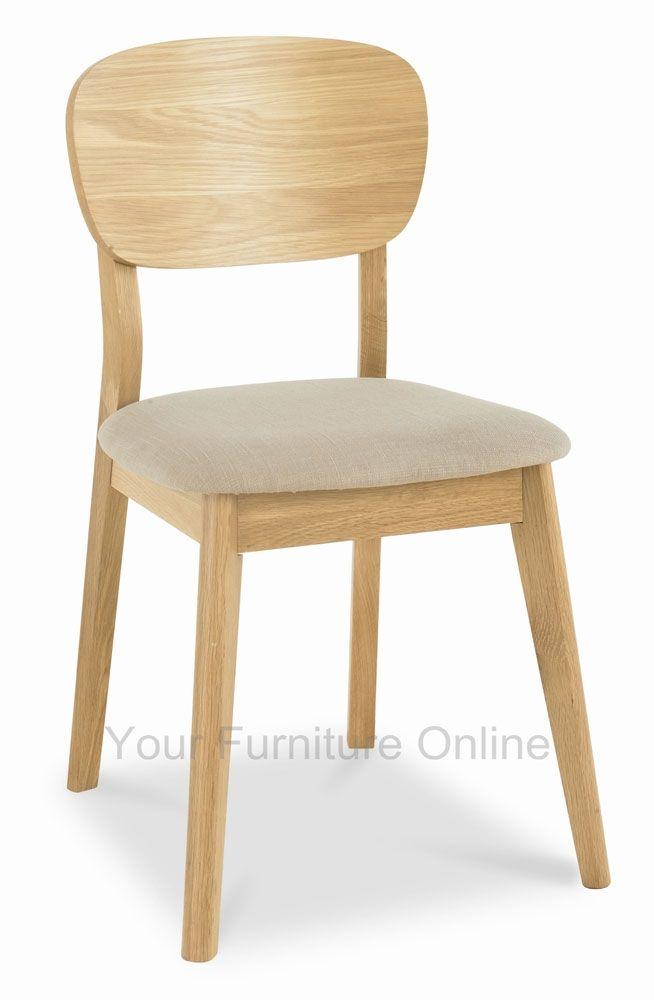 Oslo Oak Veneered Back Dining Chairs
