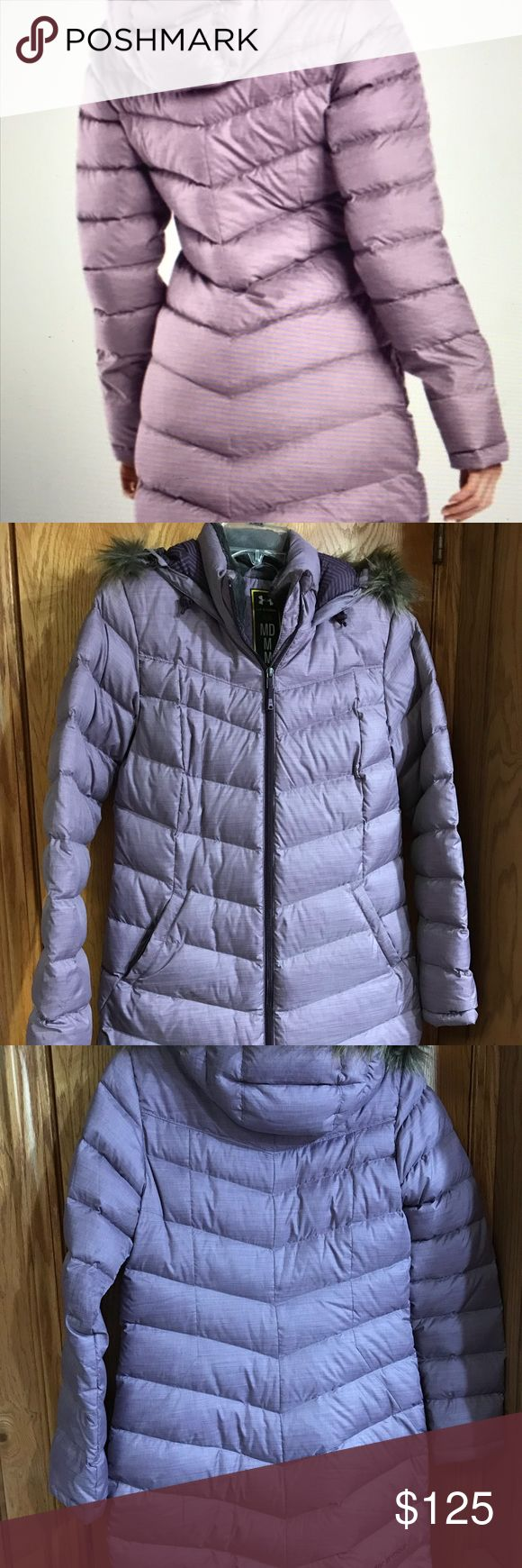 Under Armour Storm Women's Infared Barrow Parka Under Armour down parka. Worn only a few times. Lining is insulated with duck down and duck feather. Hood can be zipped off if desired. Under Armour Jackets & Coats Puffers