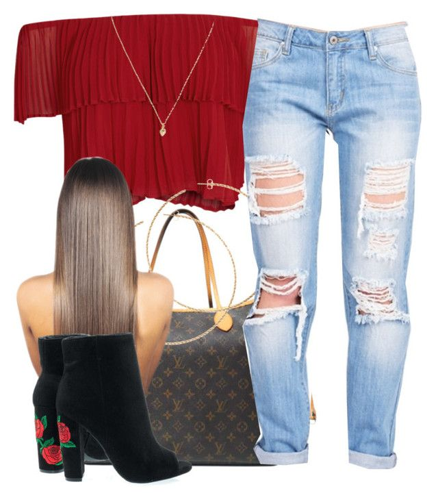 """""""5/26/17"""" by yasnikki ❤ liked on Polyvore featuring Keepsake the Label, Louis Vuitton, H&M, Banana Republic and Wild Diva"""