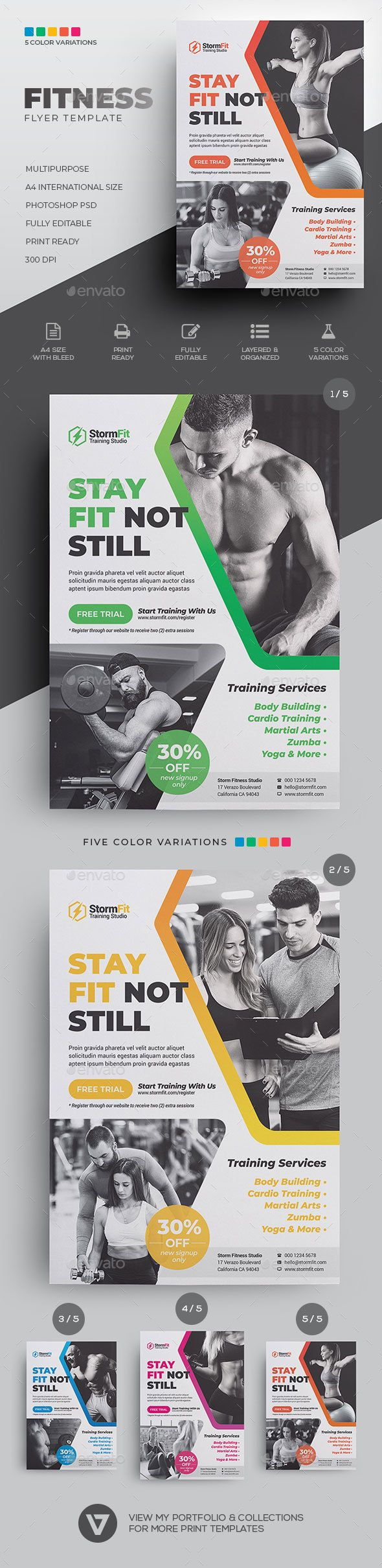 Fitness Flyer Fitness Flyer Template PSD 640