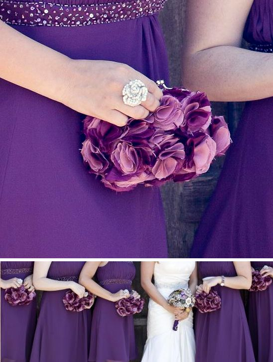 Handmade Bridesmaids purses :  wedding bouquet bridesmaid purses bridesmaids clutches handmade inspiration purple Purses1