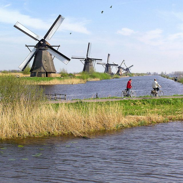 The famous Windmills of Kinderdijk by Ben