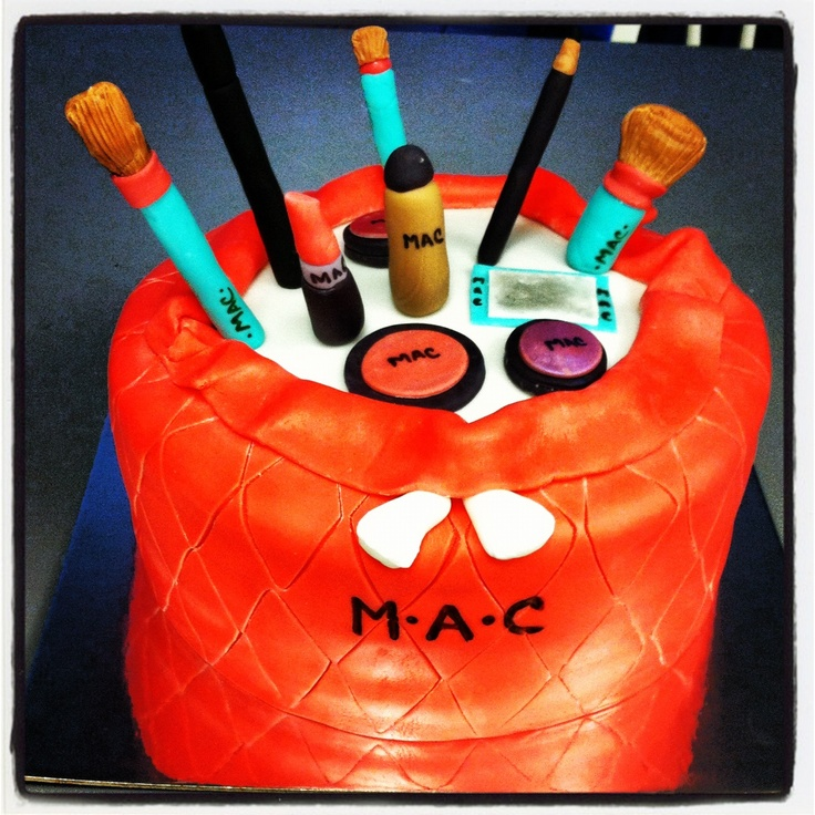 Mac makeup cake | Get Baked Cake Company